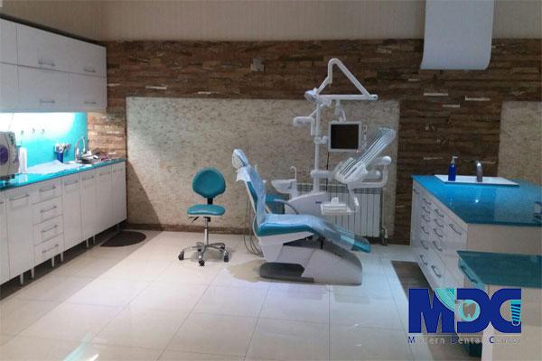 دیزاین داخلی کلینیک دندانپزشکی مدرن