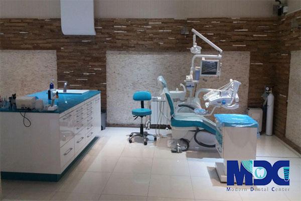 دیزاین داخلی بخش درمان کلینیک مدرن