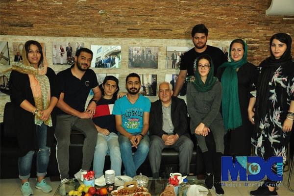 دکتر اجلالی به همراه دانشجویان باکو