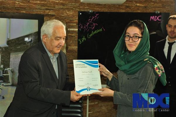 دکتر اجلالی و دانشجو باکو خانم یوسیفلی