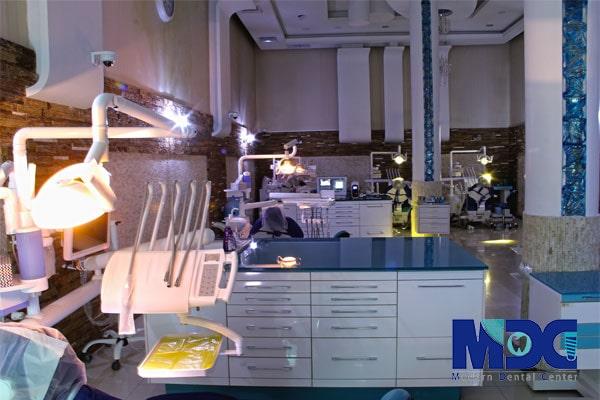طراحی و دیزاین بخش درمانی کلینیک دندانپزشکی