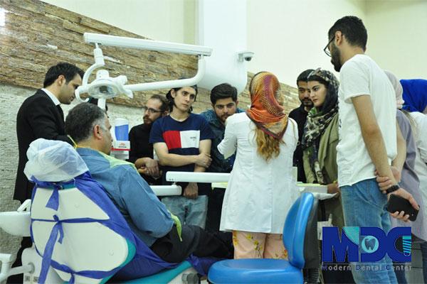 حضور دانشجویان باکو در بخش درمان کلینیک مدرن